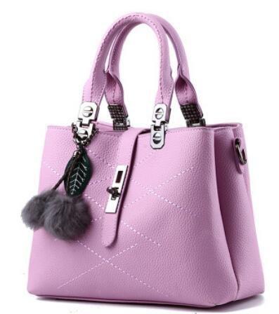 HQYSS Borse donna Borsa trendy classico dolce signora spalla Messenger , light gray purple taro