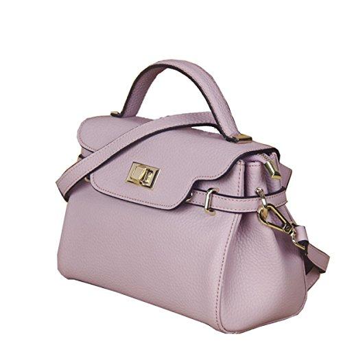 Mini Borse In Pelle Goffrata Purple