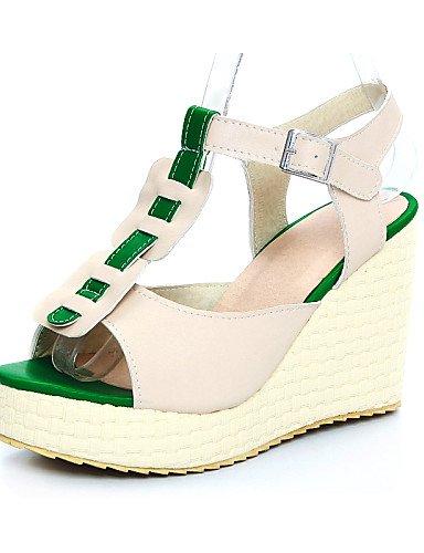 UWSZZ IL Sandali eleganti comfort Scarpe Donna-Sandali-Casual-Zeppe-Zeppa-Finta pelle-Rosa / Beige beige