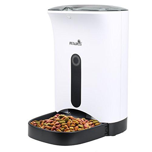 GoHiking 4.3L Futterautomat Automatischer Futterspender für Hunde & Katzen mit akustischer Benachrichtigung und Timer Funktion - Bis zu 4 Mahlzeiten am Tag