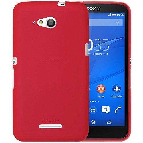 TBOC® Rot Gel TPU Hülle für Sony Xperia E4g E2003 E2006 E2053 Ultradünn Flexibel Silikonhülle