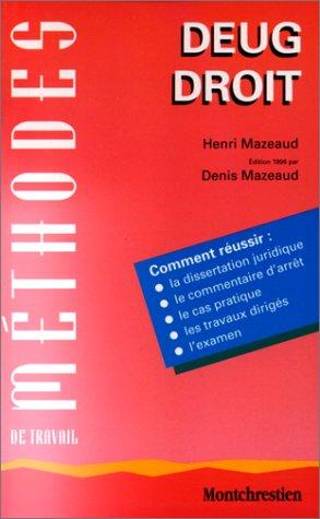 Méthodes de travail DEUG Droit, 2e édition