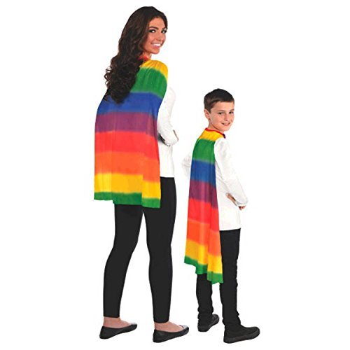 Amscan Party Perfect Team Spirit Superhero Cape, Multi Color, 13 x 8.5 by Amscan