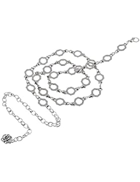 Damara Mujeres Cinturón Ajustable De Metal Atada A La Cintura