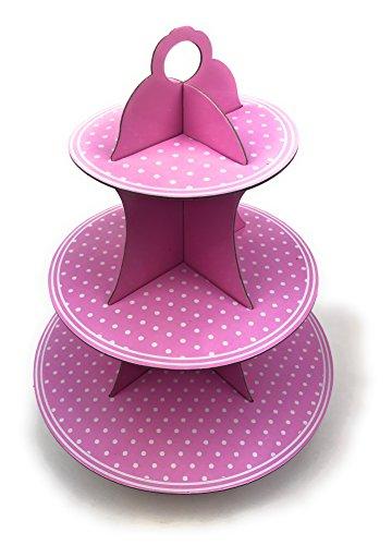 punkt Muffinständer für Jede Gelegenheit Schöne Farben (Rosa) ()