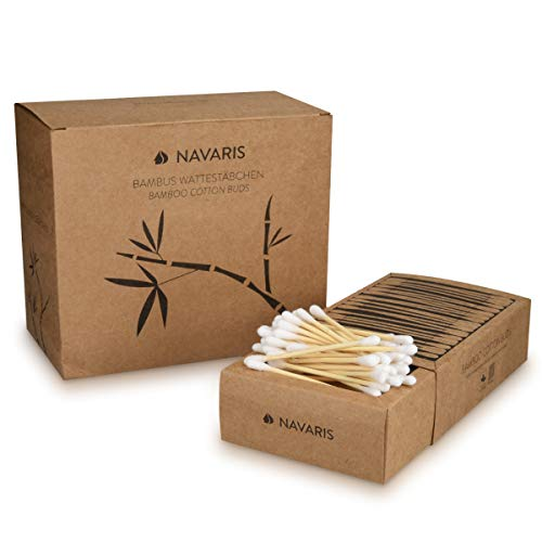 Navaris Bastoncillos oídos bambú algodón