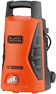 Black+Decker 1300W 100 Bar Electric Pressure Washer for Home, Garden & Cars, Orange/Black - PW1370TD-B5, 2