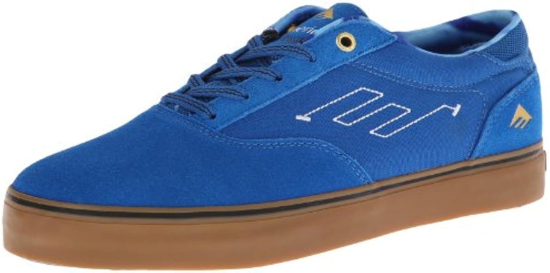 Emerica The Provost - Zapatillas de skateboarding de cuero para hombre multicolor Mehrfarbig (Blau/Weiß/Kaugummi)  -