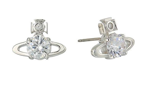 c687e62a2 Vivienne Westwood Women's Reina Earrings White Cubic Zirconia One Size:  Amazon.co.uk: Jewellery