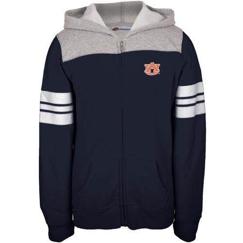 Auburn Tigers–Game Tag Sport Streifen Mädchen Juvy Zip Hoodie Blau Blau blau J8 (Auburn Mädchen Tigers)