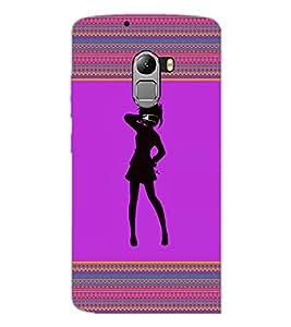 PrintDhaba Girly Design D-2601 Back Case Cover for LENOVO VIBE X3 c78 (Multi-Coloured)