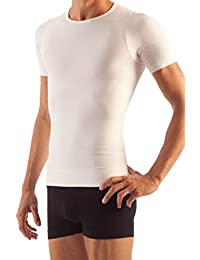 Farmacell Man 419 T-Shirt Maglia Mezza Manica Cotone Uomo Modellante Contenitiva