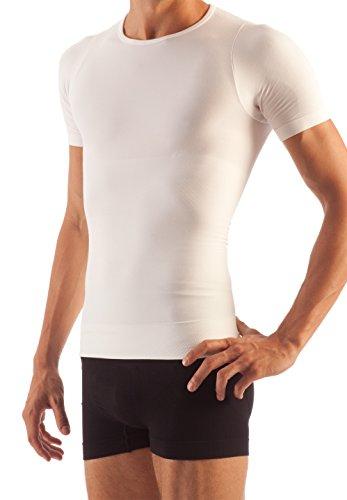FarmaCell Man 419 Figurformendes T-Shirt Herren Weiß