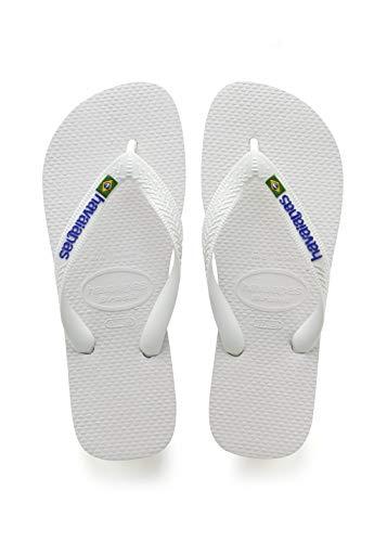Havaianas Unisex-Kinder Brasil Logo Zehentrenner Weiß (White) 29/30 EU (27/28 Brazilian)
