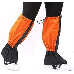 TourKing Senderismo Polainas 1 Par Impermeable al Aire Libre Que Sube Escalada Snow Boot Legging Gaiter Hombres Mujeres Caza Running