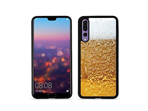 etuo Handyhülle für Huawei P20 Pro - Hülle Hybrid Fantastic - Bier mit Schaum - Handyhülle Schutzhülle Etui Case Cover Tasche für Handy