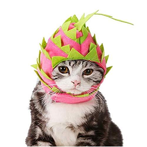 Für Hunde Drachen Kostüm Den - Hotumn Haustier-Kostüm mit Kapuze und Drache, für Hunde und Geburtstage und Partys, S, rot/grün