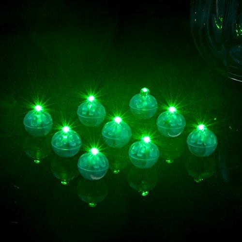 hter, LED-Mini-Ballon-Lampe, Lange Standby-Zeit, Papier-Laterne, Ballon-Licht für Halloween, Party, Hochzeit, Dekoration, Innen- und Außenbereich, wasserabweisend, grün, Free Size ()