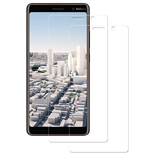 Senisttech Panzerglas Schutzfolie für Nokia 7 Plus - [2 Stück] 9H Härte Bildschirmschutzfolie, 99% Transparenz, 3D Touch Kompatibel, Anti-Fingerabdruck Panzerglasfolie für Nokia 7 Plus