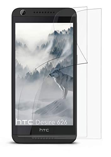 2X HTC Desire 626G | Schutzfolie Matt Bildschirm Schutz [Anti-Reflex] Screen Protector Fingerprint Handy-Folie Matte Bildschirmschutz-Folie für HTC Desire 626G/626 Bildschirmfolie