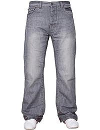 798e2ff825e2 APT Herren einfach blau Bootcut weites Bein ausgestellt Works Freizeit Jeans  Große Größen in 3 Farben