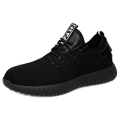 CHNHIRA Homme Femme Chaussure de Sécurité Chantiers Chaussures de Travail Unisexes Semelle de Protection (EU41 NoirA)