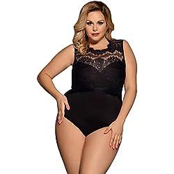 ohyeahlady Femme Body Dentelle Lingerie Grande Taille L/XL NOIR