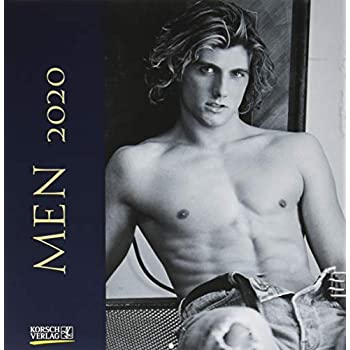 Men 2020: Broschürenkalender mit Ferienterminen. Erotik-Kalender in schwarz weiß