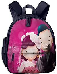 Wedding of The Bridegroom and The Bride Kid and Toddler Student Backpack School Bag Super Bookbag