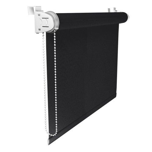 Victoria M Klemmfix - Estor opaco para ventana (fijación sin taladrar) tamaño: 70 x 230 cm negro
