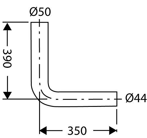 Anschlussbogen für Spülkasten | 390 x 350 mm | Kunststoff | Tiefspülkasten | WC, Toilette | Beige