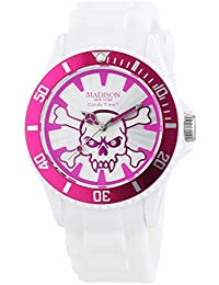 Madison New York analog Stay Alive multi-color dial Unisex watch - U4618-05