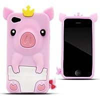 Zooky® rosa Schwein Silikon Hülle / Schutzhülle / Cover für Apple Iphone 4 / 4s