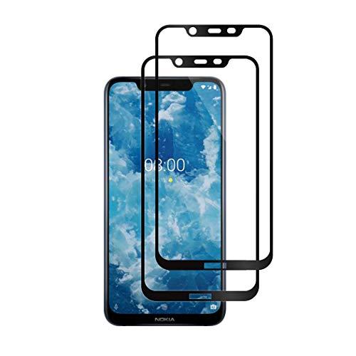 KZIOACSH Pellicola Vetro Temperato Nokia 8.1 [2 Pezzi], 3D Copertura Completa 9H Copertura Pellicola Protettiva Compatibile con Nokia 8.1