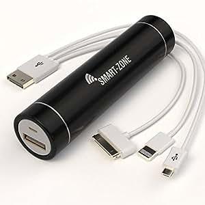 Batterie externe 3000 - Chargeur mobile universel pour téléphone portable, caméra, smartphone, - Power bank nomade avec multi-adapteur usb INCLUS - Pour iPhone 5, 4S, 4, 3GS, 3, Samsung Galaxy S2, S3, S4, S5, Batterie rechargeable de secours - Puissant, Compact et léger (slim), tient dans la poche. Le cadeau parfait, vous ne serez plus JAMAIS à court de batterie!