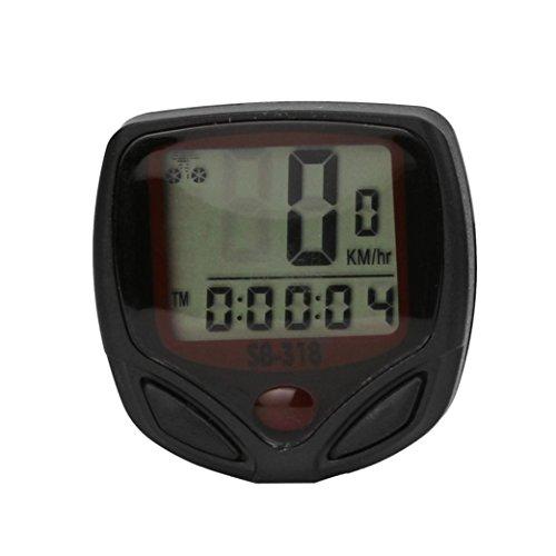 Vovotrade Impermeable Bicicleta Ciclo LCD Monitor Digital Computadora Velocímetro Cuentakilómetros Contador kilométrico de bicicleta Al aire libre Moto Corriendo