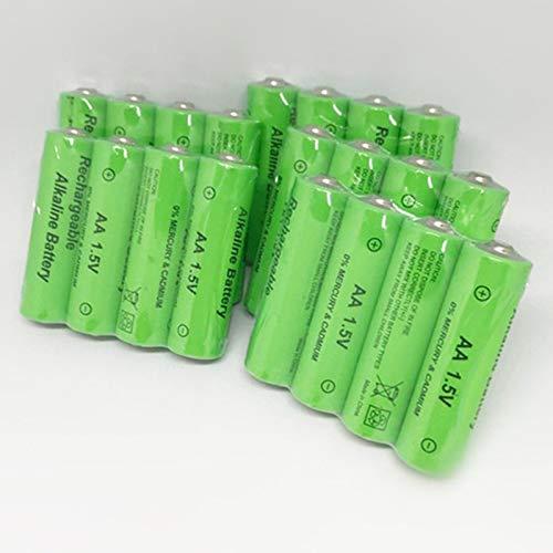 TOOGOO Paquete De 20 AA Batería Recargable 3000Mah