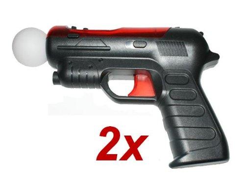 2x Gun Pistole Waffe Gewehr für PS3 Move - RBrothersTechnologie (2x Ps3 Controller)