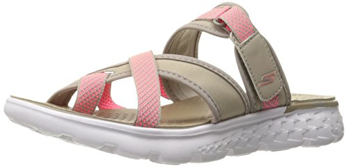 SKECHERS Damen Zehensteg Pantolette ON-THE-GO 400 Federleicht (37 EU, TPE)