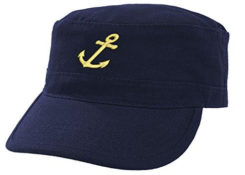 b458b37300c Boating Hat Anchor Captain Sailing Cap Army Yacht Military Baseball Caps  Drunk Sailor MFAZ Morefaz Ltd (Nave Anchor-Gold) - Buy Online in UAE.