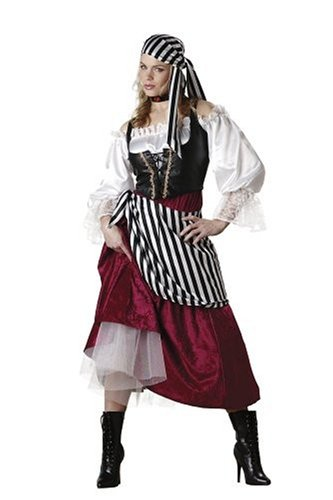 Halloween Kostuem Make-up Party Kleidung Festival Fasching Karneval Cosplay Maskerade Erwachsene Kostuem Pirate's Wench Kostuem fuer Erwachsene Medium (Pirate Halloween-make-up)