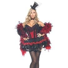 Costume de sALOON gIRL-rouge pour le carnaval taille 38/40