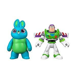 Mattel Imaginext Disney Toy Story 4 Pack de 2 Figuras Buzz Lightyear y Bunny, Juguetes Niños +3 Años (GBG91)