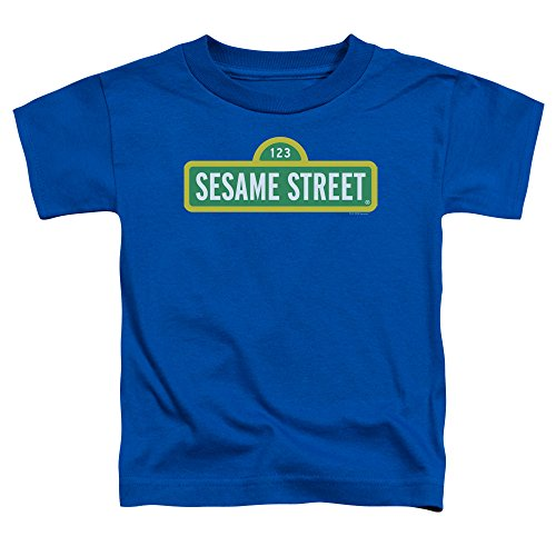Sesame Street Kleinkind-Logo-T-Shirt, 3T, Royal Blue (Kleinkind Royal Blue T-shirt)