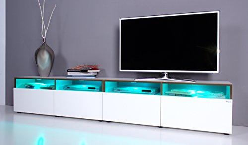 TV Lowboard NOOMO # Fronten weiß Hochglanz inkl. RGB-Beleuchtung mit Fernbedienung - 3