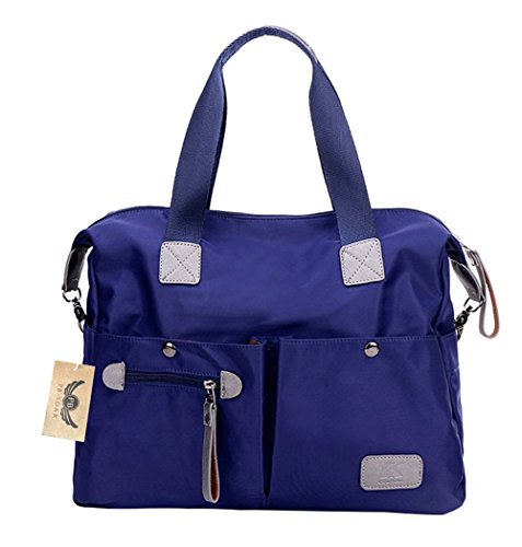 pb-soar-womens-ladies-nylon-waterproof-casual-daily-handbag-shoulder-bag-crossbody-bag-blue