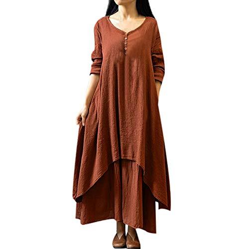 Kleider Damen Lange Kleid 1950er Vintage Brautjungfernkleid Petticoat Lange Ärmel Ballkleid Hepburn...