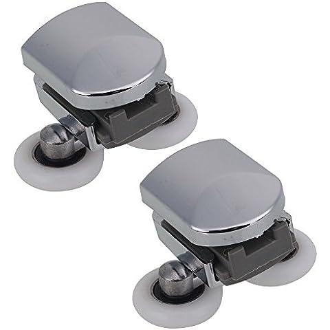 Aleación de Zinc doble muelle inferior para mampara de ducha de soportes para cañas de pescar/guías de/ruedas 25 mm cilindro de 2