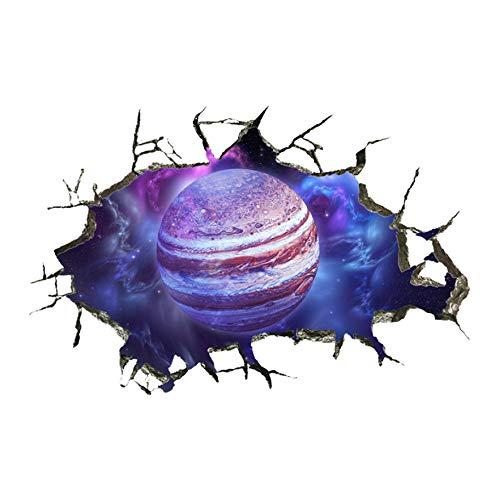 3D Stereowall Paste Breaking Wall Galaxy Planet Aufkleber 40x60cm (Aufkleber Buchstaben Harley Davidson)