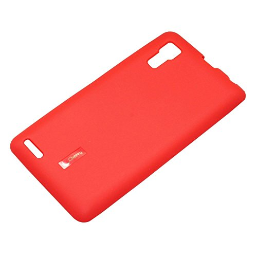 Caseous® Soft Matte Finish Rubberized Back Cover Case For Lenovo P780 (Red)  available at amazon for Rs.99